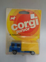 CORGI JUNIORS Refuse truck # 55 yellow skip blue cab 1976 blister pack