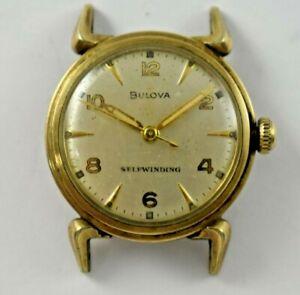 Vintage 1954 L4 Bulova Selfwinding 17J 10CSC Wrist Watch lot.14