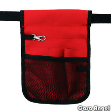 Nurse Vet  Physio Teacher Medical Professions Waist Belt Pouch Bag - Red