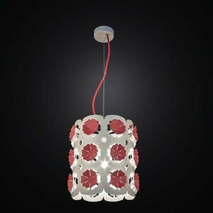 Chandelier Contemporary Cutting Laser Cut White And Red A 1 Light Bga 2548/P20
