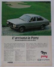 Advert Pubblicità 1982 HYUNDAI PONY