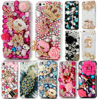Rhinestone Diamond Bling Jewelled Crystal 3D Hard Back Phone Case Cover iPhone