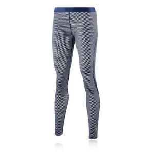 Skins Womens DNAmic Core Long Tights Bottoms Pants Trousers Blue White Sports