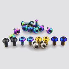 4pcs M5 x 8/12/15/16/18/20/25mm Titanium Screws Bolts Half Round Button Head