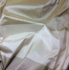 """Silk Taffeta Fabric - Beige & Cream Stripe 54"""" By The Yard"""