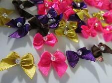 40 Bright Color 2cm Satin Ribbon Bow/bead trim/sewing/beaded/craft/hand made F81