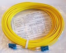 New 15m Yellow LC-LC Singlemode Duplex Patch Cable (G657A2)