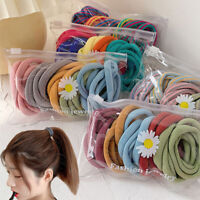 25Pc Candy Colors Solid Rubber Bands Women Girls Lovely Elastic Hair Bands