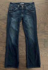 HUDSON Women's Jeans Sz 27 Bootcut Dark Low Rise Stretch NICE!