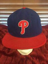 Men's NWOT 59 FIFTY NEW ERA Philadelphia Blue Phillies Fixed Size 7 5/8 Hat H82