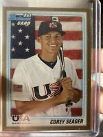 2010 Bowman Draft Prospects Gold #BDPP108 Corey Seager RC Rookie 1ST