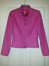 Ak Anne Klein Fuchsia Wool/Angora Front Zip Womens Jacket Sz. 4