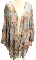 UMGEE Maxi Kimono Cardigan Women's Bell Sleeve Flowy Long Jacket Plus 1X,2X Nwt