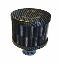 12mm CARBON FIBRE HIGH QUALITY MINI CRANKCASE OIL AIR BREATHER FILTER