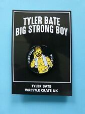 TYLER BATE WWE UK CHAMPION OFFICIALLY LICENSED LAPEL PIN BADGE WRESTLE CRATE NEW