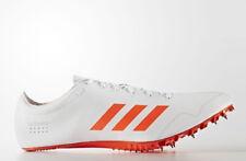 New Adidas Adizero Prime SP Track Sprint Spikes - White/Orange Size 11.5 BB4117