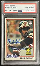 1978 TOPPS Eddie Murray PSA DNA AUTO ROOKIE RC #36 AUTOGRAPH