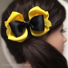 "Emma Wiggle large 4.5"" boutique hair bow alligator clip nonslip party/dance/show"