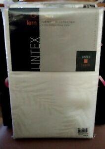 Tablecloth  LINTEX Fern  Off White 100% Cotton, 152cm  x 213cm Machine Washable.