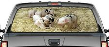 DECAL TRUCK -PIGS/PIGLETS - GRAPHIC - REAR UTE/CAR/CANOPY WINDOW