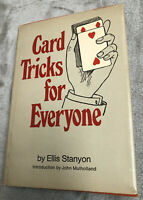 Vintage CARD TRICKS FOR EVERYONE Book Ellis Stanyon 1971 Magic HC W Dust Jacket