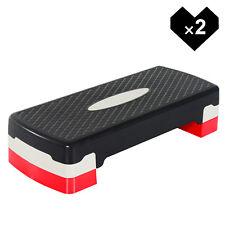 Stepper Aeróbic Step Fitness Tabla Deporte Gimnasia Altura Regulable Juego de 2