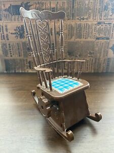 Tomy Miniature Musical Moving Rocking Chair Possibly for Barbie Dolls Vintage