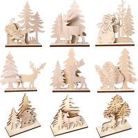 Fj- in Legno Babbo Natale Pupazzo di Neve Stand Creazioni Tavolo Ornamento