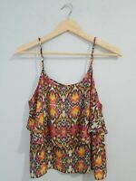 Lovemarks Women's Blouse Crop Top Sleeveless  Scoop Neck Polyester. Size M