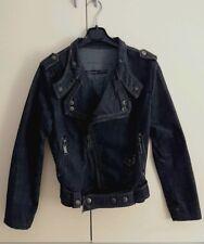 CHIODO TRN con borchie doppiopetto giubbino in jeans DENIM mod.BIKER TG.S-NUOVO-