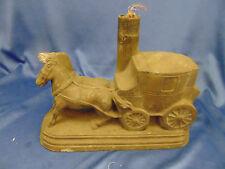 VTG black metal lamp base horse drawn carriage black old time table light art