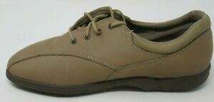 EASY SPIRIT WOMEN'S HARBOR TAUPE BROWN SOFT TCH LEA. OXFORD COMFORT SHOES 7.5/C