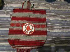 New listing boston red sox wool woven backsack handmade medium size light weight