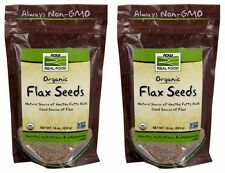2-Pack Of Organic Flax Seeds 1 lb, Now Foods Fiber Source