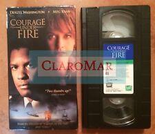 ☀️ Courage Under Fire VHS Movie Meg Ryan Denzel Washington Lou Diamond Phillips