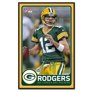 Green Bay Packers Wincraft NFL Aaron Rodgers 11x17 Wood Sign With Bevel FREE