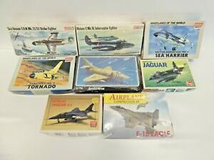 8 x Unbuilt Model Kits Academy Minicraft LS Frog Military Aircraft some sealed