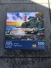 CORNER PIECE JIGSAW - SUNSET LIGHTHOUSE - 500 PIECES