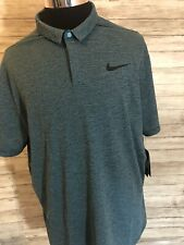 Men's NWT 90$ Nike Golf Polo Shirt XL Aeroreact Striped Breathable XLarge  N4