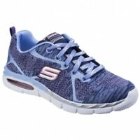 Skechers AIR APPEAL BREEZY BLISS Girls Sports Running Trainers Navy/Periwinkle