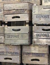 Vintage Wooden Orchard Fruit Crates -Rustic Old Bushel Box - Shabby Chic Storage