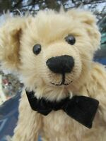 "VINTAGE MOHAIR TEDDY BEAR 13"" RED PAWS ARTIST BRANSGORE BEARS HAND MADE ENGLAND"