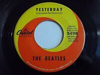 The Beatles Yesterday / Act Naturally 45 1964 Capitol Vinyl Record