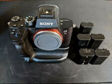 Mint Sony A7RIII Body with Sony VG-C3EM Battery Grip and 5 Batteries