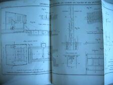 EXPERIENCES HYDRAULIQUES LOIS ECOULEMENT EAU M. Lesbros 1851 - 37 planches