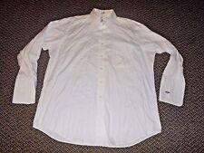 Paul Fredrick *PURE WHITE* Dress Shirt Long Sleeve 80s 2 Ply Oxford Size 17-33