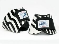 Davis Horse Boots Classic No Turn Bell Over Reach Hoof Zebra Print Cob Medium