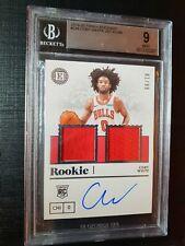 **Coby White RC #/99 ** Encased  Autograph Rookie Dual Jersey RJA  BGS 9/10
