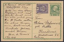 WWI Austria-Hungary 1917 Postal card sent to Krusevac