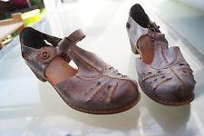 schicke RIEKER Damen Sommer Schuhe Sandalen Sandaletten Gr.38 Leder blau #4k